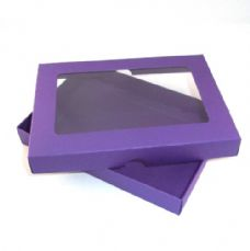 "5"" x 7"" Purple Invitation Boxes With Aperture Lid"